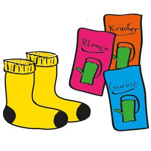 Socken und Samen